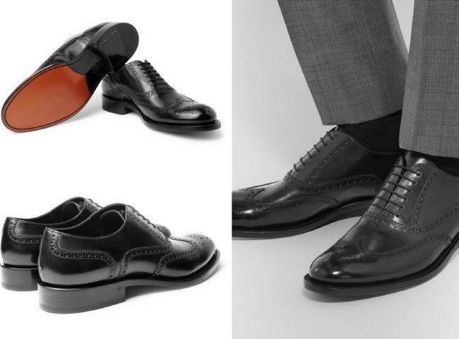 O'KEEFFE Algy Polished-Leather Wingtip Brogues