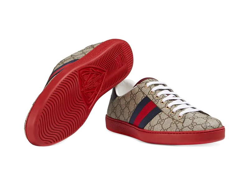 Gucci New Ace Webbed Low Top Sneaker 2