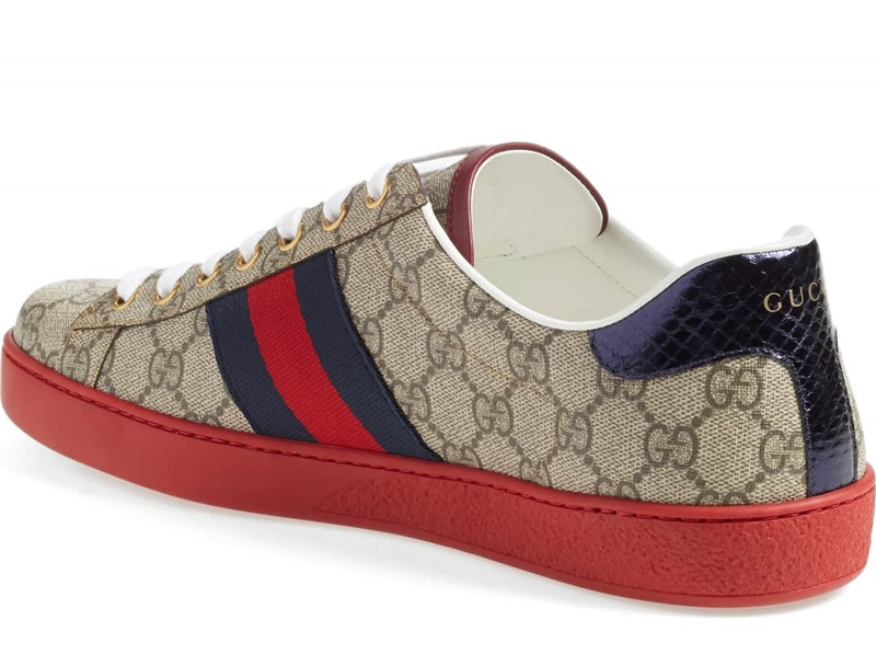 Gucci New Ace Webbed Low Top Sneaker 4