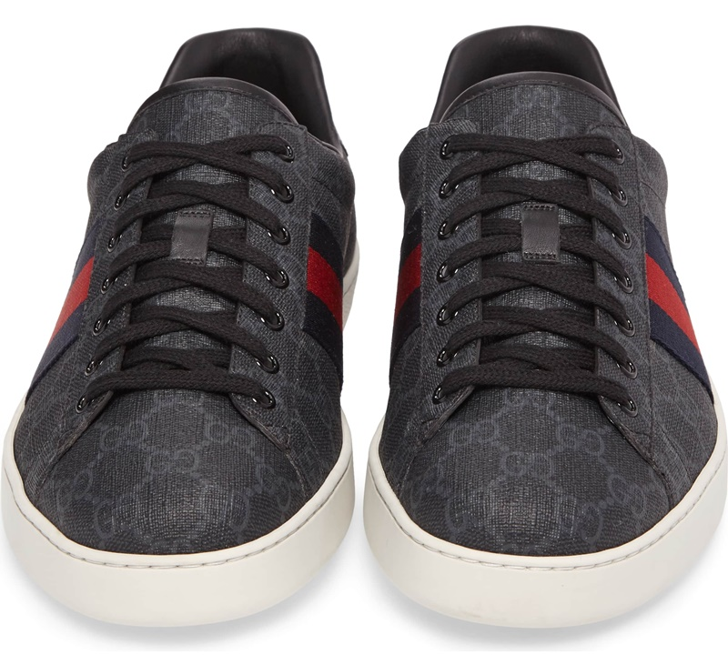 Gucci New Ace Webbed Low Top Sneaker 5