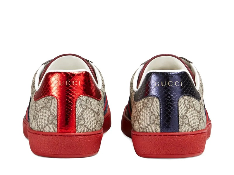 Gucci New Ace Webbed Low Top Sneaker 3