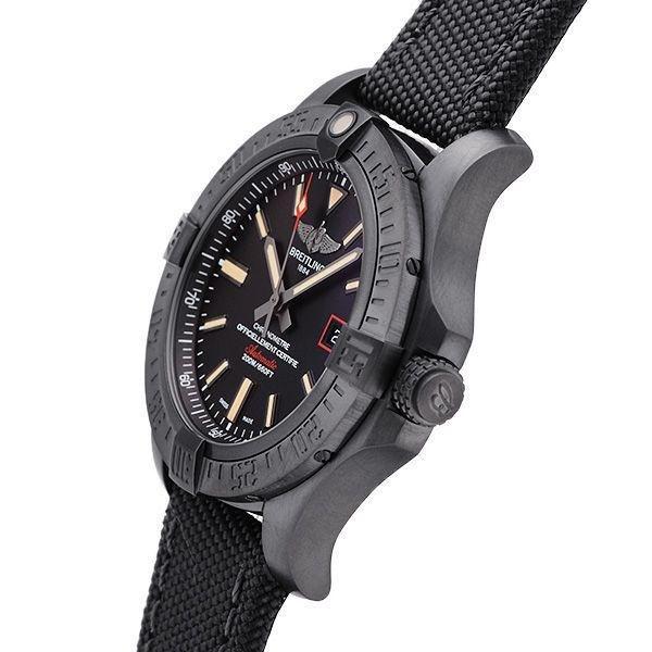 Breitling Avenger Blackbird 44 Men's V1731110-BD74-109W Watch - Side View