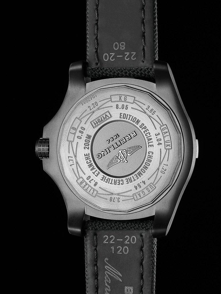 Breitling Avenger Blackbird 44 Men's V1731110-BD74-109W Watch - Case Back
