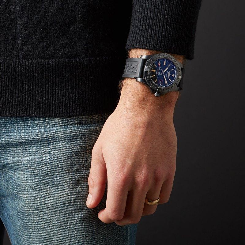 Breitling Avenger Blackbird 44 Men's V1731110-BD74-109W Watch - Worn on Wrist