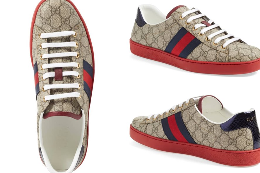 abc93b327c0 Gucci Men s New Ace Webbed Low Top Sneakers Review