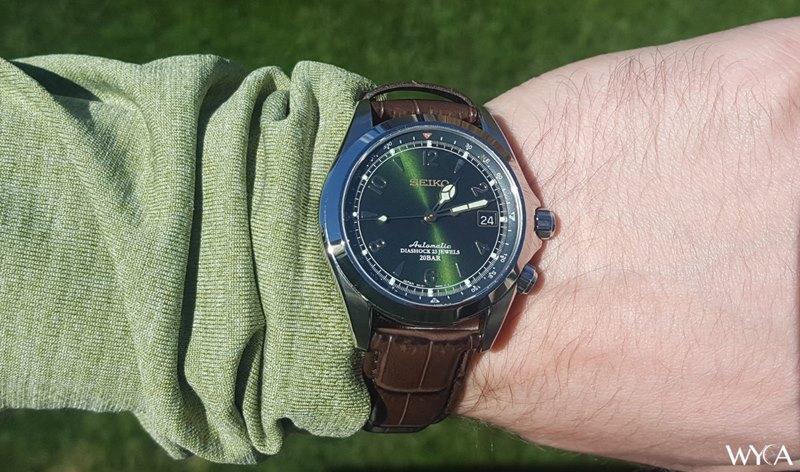 Seiko Alpinist Men's SARB017 Watch - Worn on Wrist