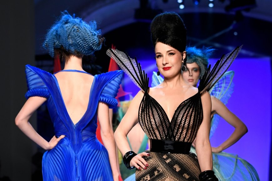 766870181f5 Dita Von Teese Brings Glamour to Jean Paul Gaultier Haute Couture 2019 Show  - Featured Image