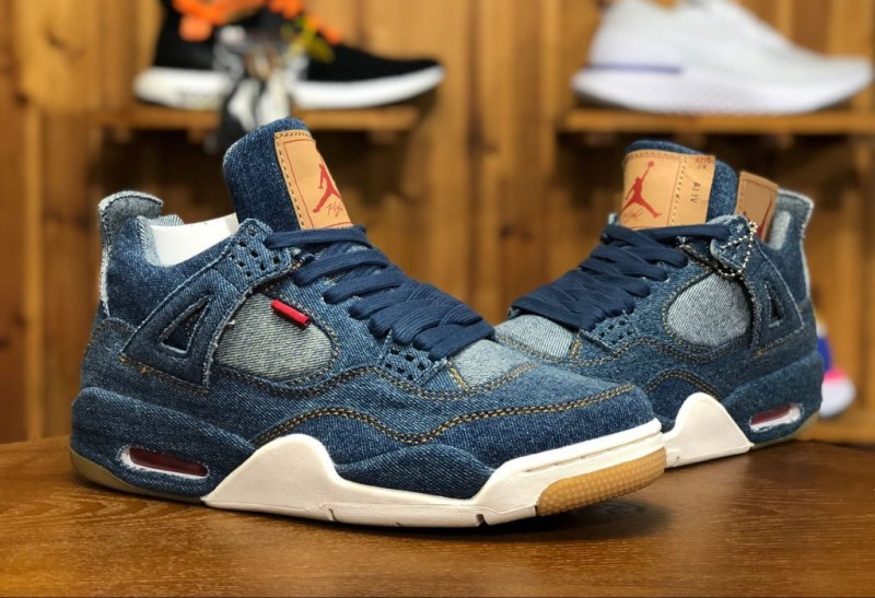 Levi's x Air Jordan 4 Blue Denim 5