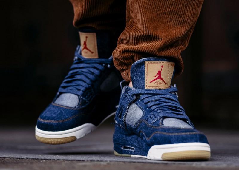 Levi's x Air Jordan 4 Blue Denim 9