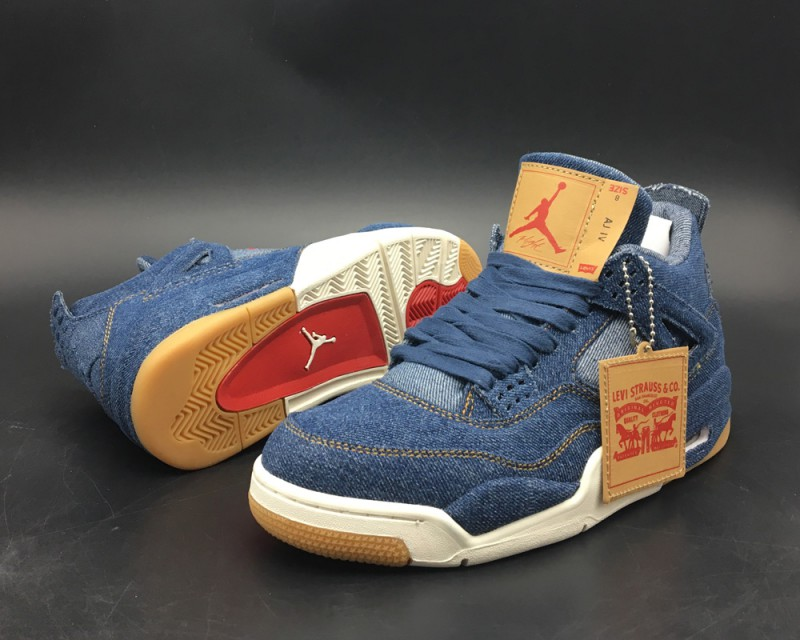 Levi's x Air Jordan 4 Blue Denim