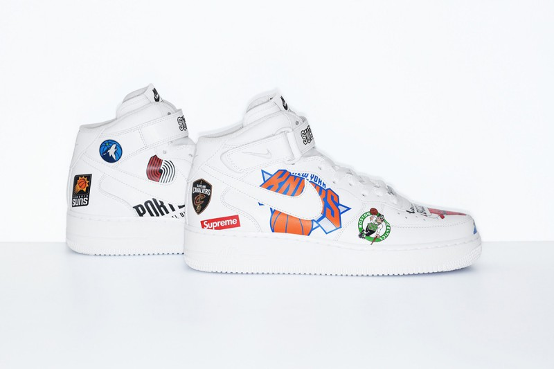 NBA Nike Air Force 1 Mid NBA Logos 3