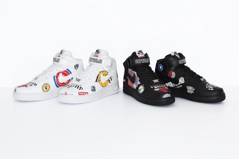 NBA Nike Air Force 1 Mid NBA Logos 9