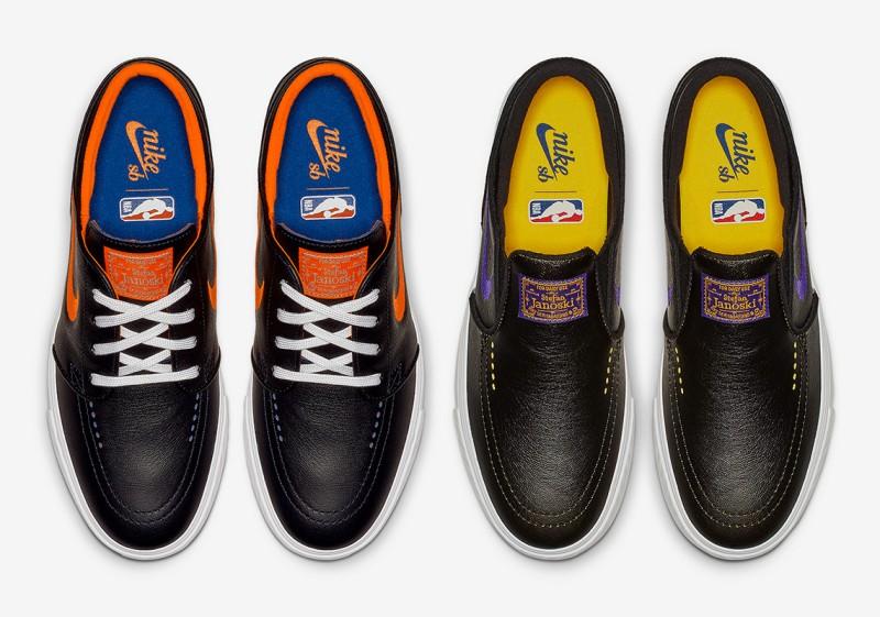 """NBA x Nike SB Janoski """"Lakers"""" and """"Knicks"""""""