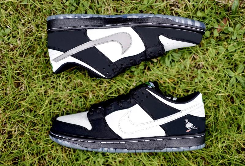 """Nike SB Dunk Low """"Panda Pigeon"""" 10"""