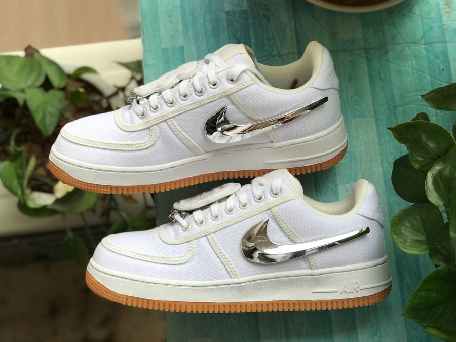 best website c0a83 72b2c Nike x Travis Scott Air Force 1 Sail Review