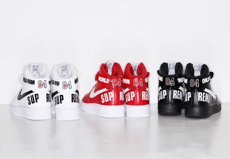 Supreme x Nike Air Force 1 Hi Collection 2