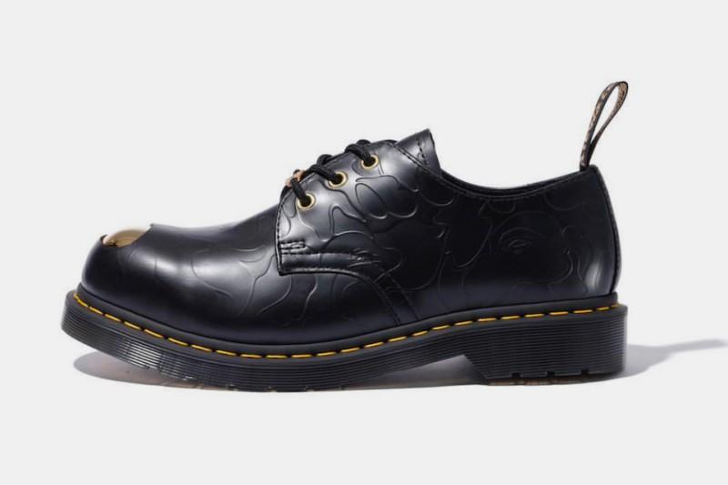 BAPE x Dr. Martens ABC 3 Hole Steel Toe Cap Shoes 1
