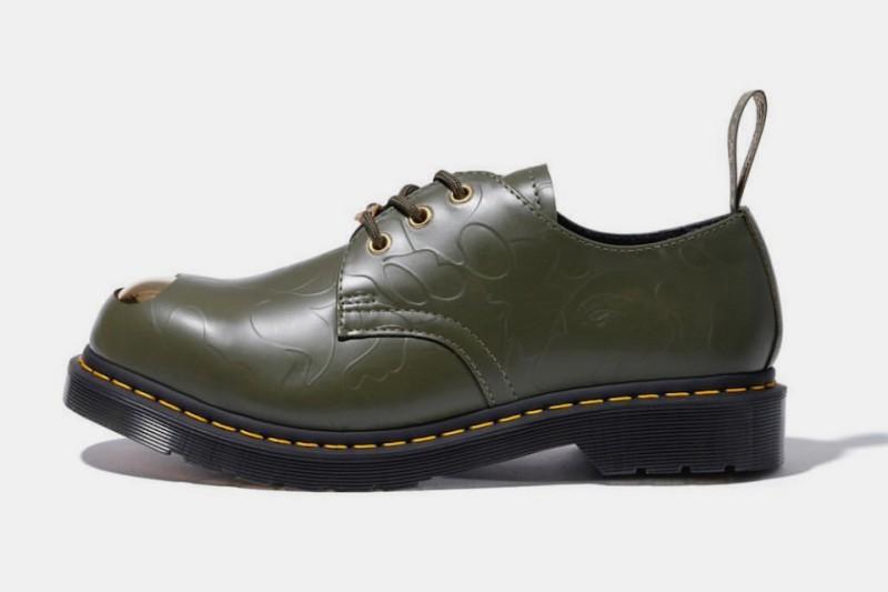 BAPE x Dr. Martens ABC 3 Hole Steel Toe Cap Shoes 3