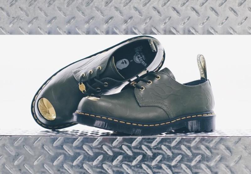 BAPE x Dr. Martens ABC 3 Hole Steel Toe Cap Shoes 6