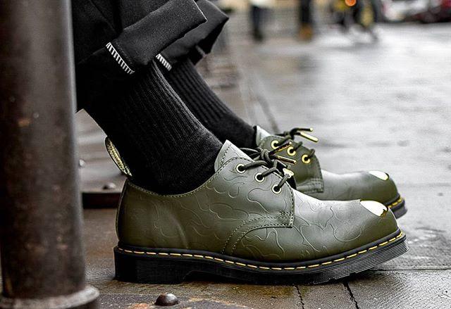 BAPE x Dr. Martens ABC 3 Hole Steel Toe Cap Shoes 9