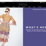 Barneys New York home page screenshot March 25, 2019