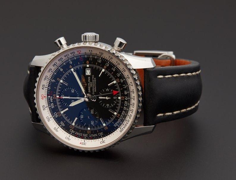 Buy Breitling Navitimer World Men's A2432212-B726BKLT Watch + Review - Featured Image