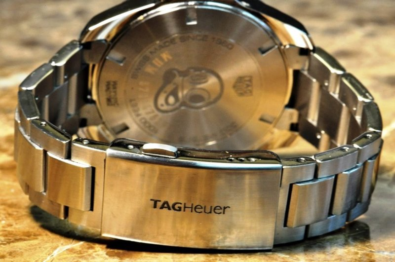 TAG Heuer Aquaracer Men's WAY101C.BA0746 Watch - Folding Clasp with Double Safety Push-Buttons and Diving Extension