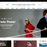 Matches Fashion home page screenshot on March 27, 2019