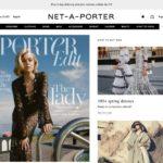 NET-A-PORTER homepage screenshot on March 25, 2019