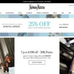 Neiman Marcus home page screenshot on March 27, 2019