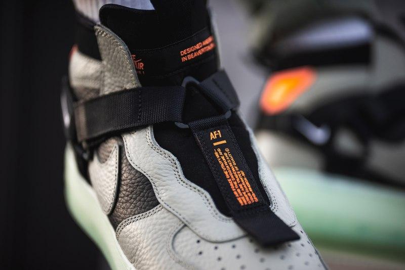 """Nike Air Force 1 Utility Mid Strap """"Spruce Fog"""" 10"""