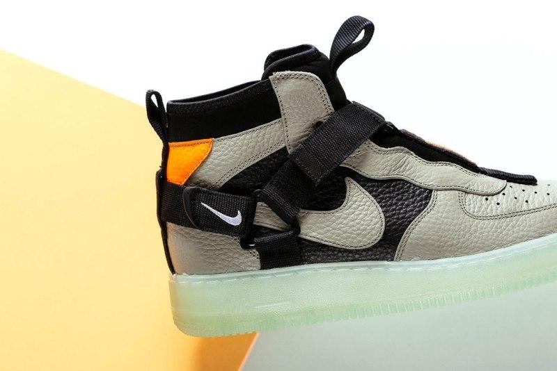 """Nike Air Force 1 Utility Mid Strap """"Spruce Fog"""" 5"""
