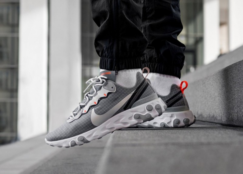 "Nike React Element 55 ""Grey Orange"" Grid Review 7f59cffc3"