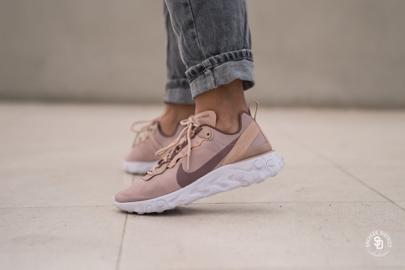 Nike React Element 55 Particle Beige 1