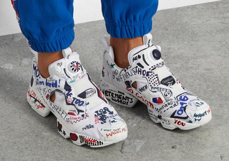 buy popular 73b74 c04dc Vetements x Reebok Scribbled Instapump Fury 3