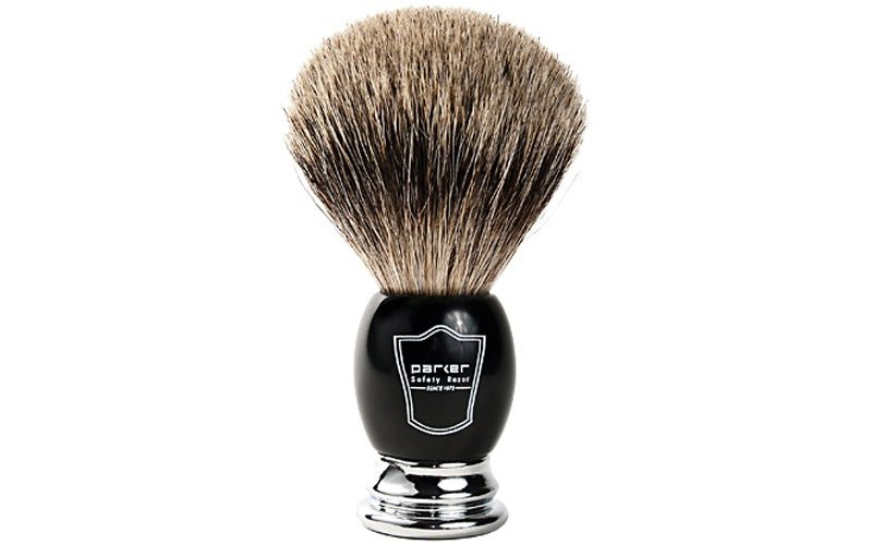 Parker Deluxe Pure Badger Shaving Brush 1