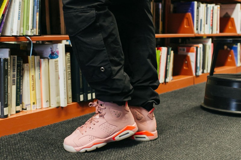 cheap for discount f02bf 40d54 Aleali May x Women's Air Jordan 6 Retro 'Millennial Pink' Review