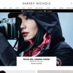 Harvey Nichols home page screenshot on April 1, 2019