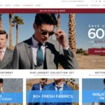 Indochino home page screenshot on April 17, 2019