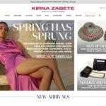 Kirna Zabete home page screenshot on April 2, 2019
