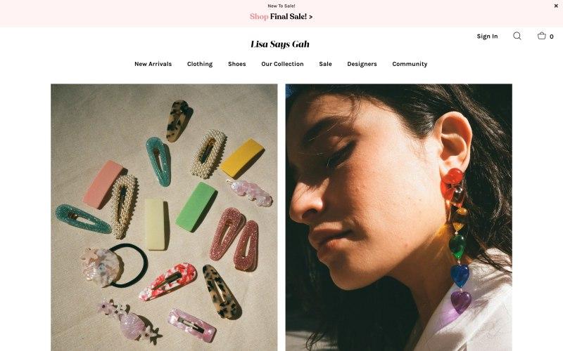 Lisa Says Gah home page screenshot on April 22, 2019