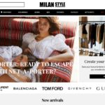 Milan Style home page screenshot on April 30, 2019