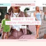 Missguided home page screenshot on April 22, 2019