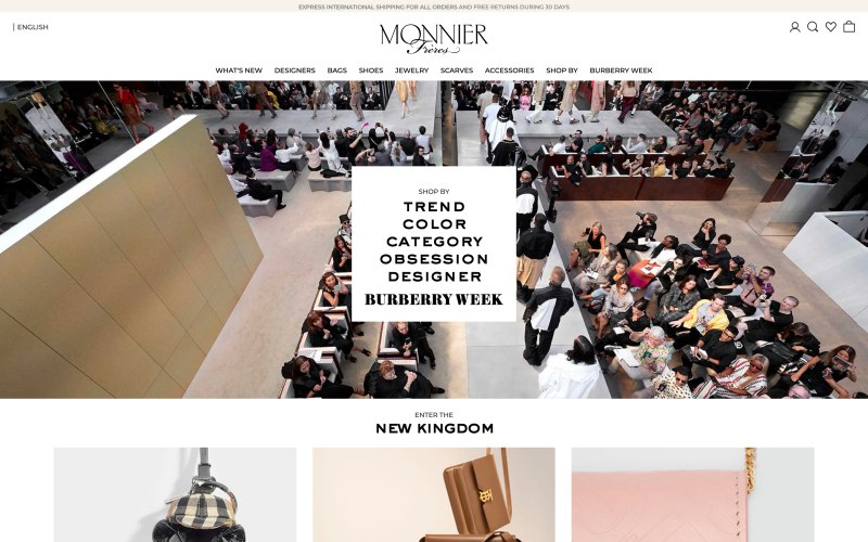 Monnier Freres home page screenshot on April 2, 2019