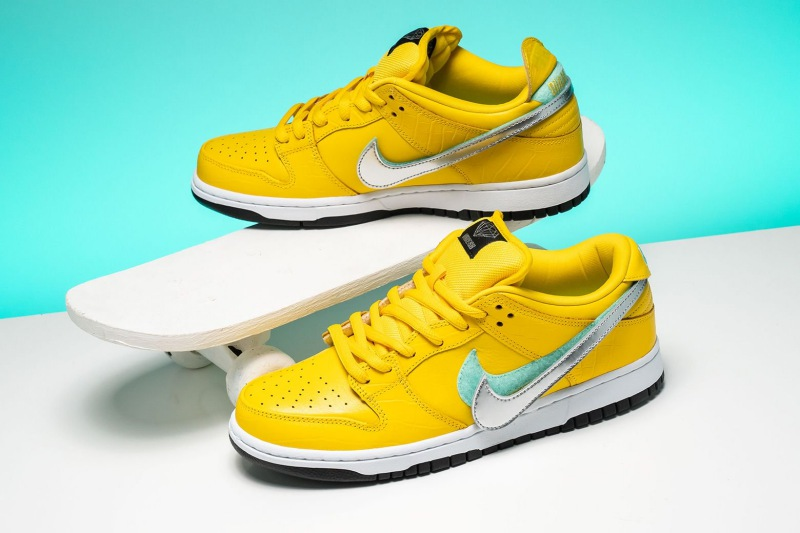 brand new bed63 2d54a Diamond Supply Co. x Nike Dunk Low Pro SB 'Canary Diamond' Review