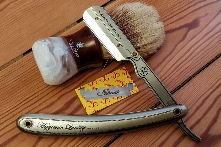 Parker SRB Black Handled Barber Straight Razor