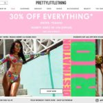 PrettyLittleThing home page screenshot on April 28, 2019