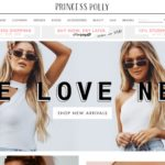 Princess Polly home page screenshot on April 23, 2019