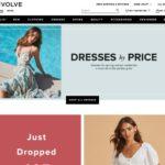 Revolve home page screenshot on April 9, 2019