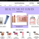 Sephora home page screenshot on April 11, 2019